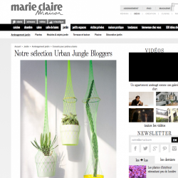 Urban Jungle Bloggers on Marie Claire Maison