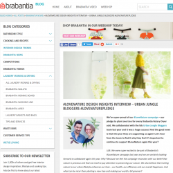 Brabantia #LoveNature Design Insights Interview – Urban Jungle Bloggers #LoveNaturePledge