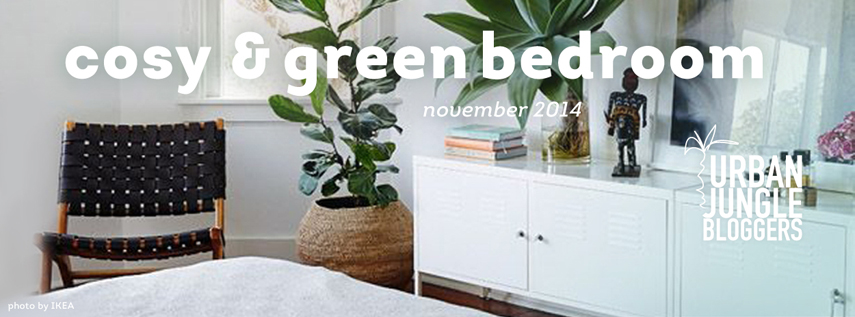Urban Jungle Bloggers cosy and green bedroom