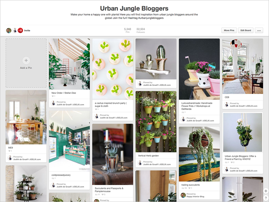 Urban Jungle Bloggers love Pinterest