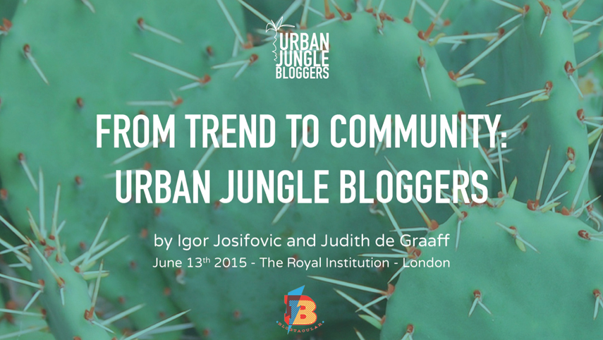 Urban Jungle Bloggers green gift for Blogtacular attendees