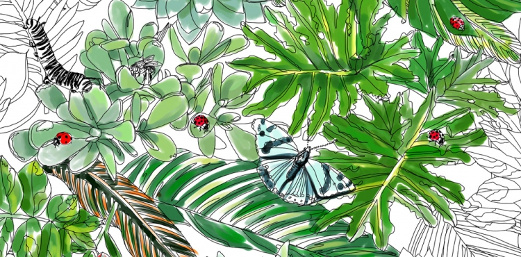 Urban Jungle Bloggers Coloring book Leafs Jessie Kanelos Weiner