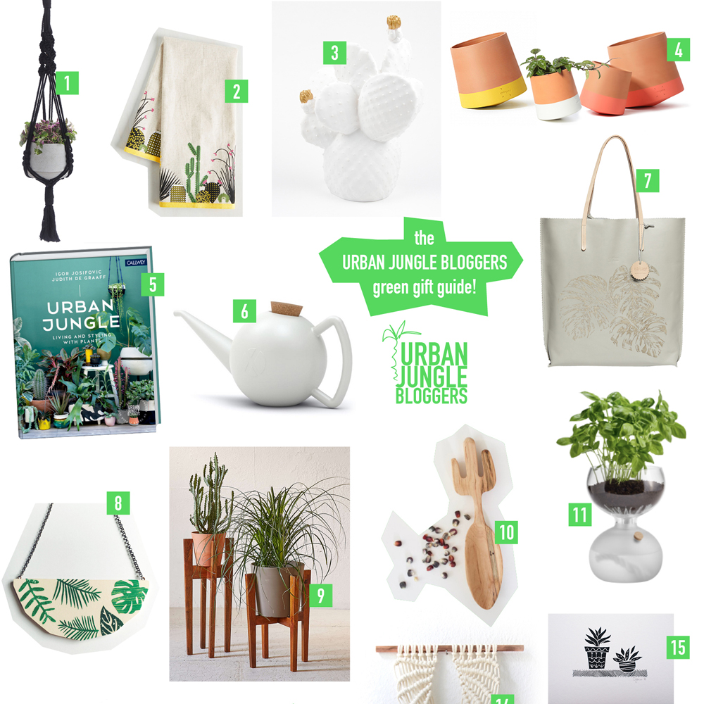Urban Jungle Bloggers - giftguide for plant lovers and urban gardeners