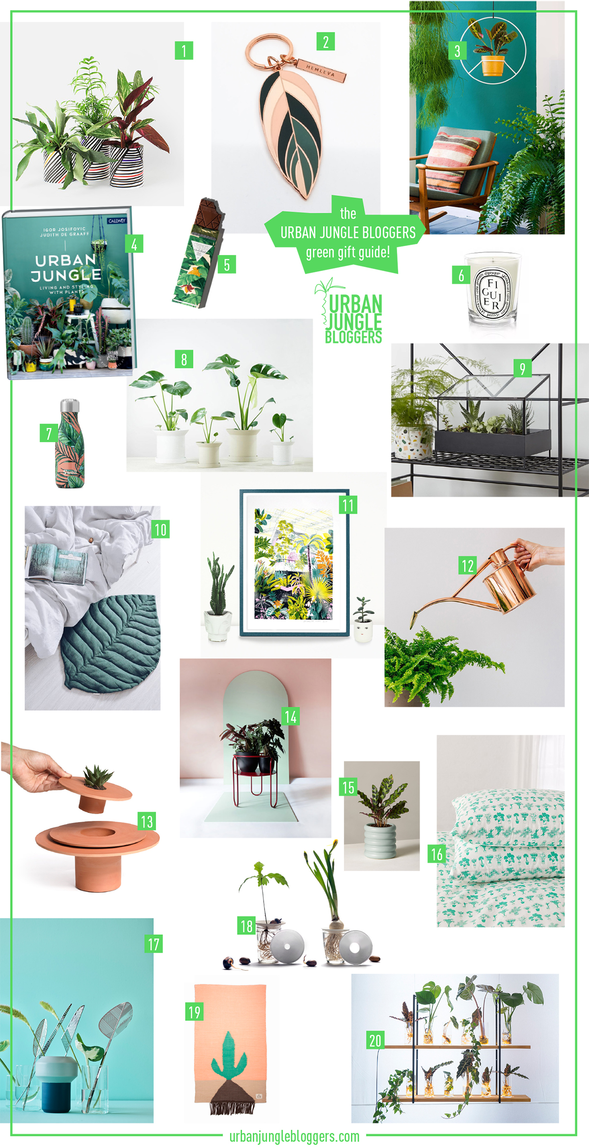 Urban Jungle Bloggers Green Gift Guide 2018 #urbanjunglebloggers #giftguide