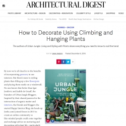 Urban Jungle book on Architectural Digest December 2016