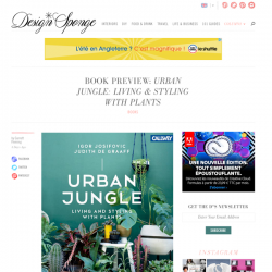 Urban Jungle book preview on Design*Sponge