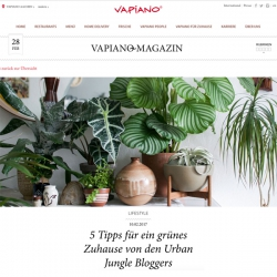 Urban Jungle Bloggers in Vapiano