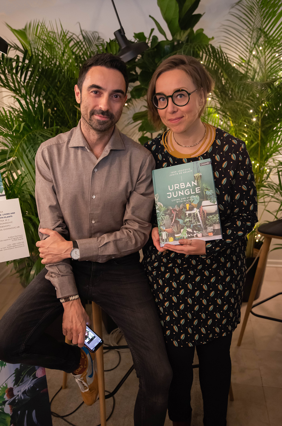 Urban Jungle Bloggers book event in Zagreb Croatia with Dnevna doza biljaka
