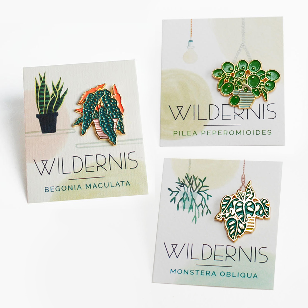 Urban Jungle Bloggers - Green Gift Guide 2019 - Wildernis Amsterdam pins #urbanjunglebloggers